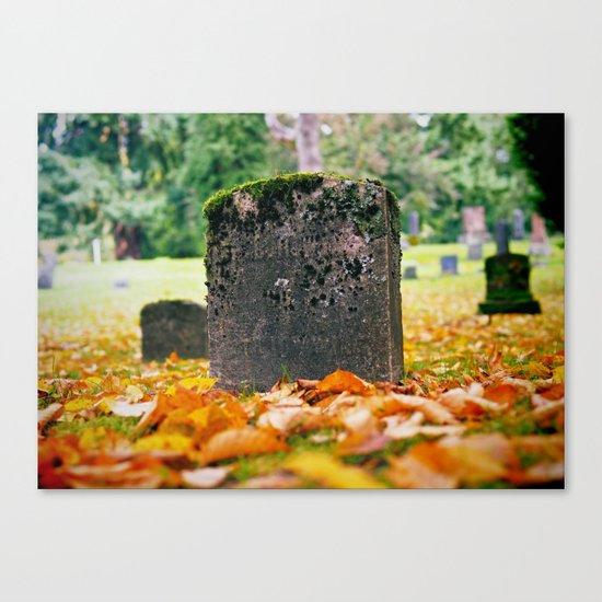 Graveyard Autumn Canvas Print