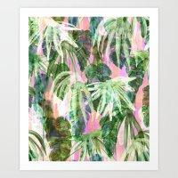 Lindsey Tropical pink Art Print