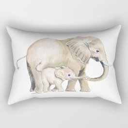 Mom and Baby Elephant 2 Rectangular Pillow