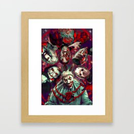 Twisty Jigsaw Jason Voorhees Terminator Psychedelic Spook Show Framed Art Print
