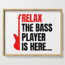 Relax The Bass Player Is Here | Music Instrument Serving Tray