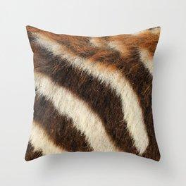 Zebra Fur Throw Pillow
