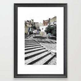 LAUNDRY IN LISBON (PORTUGAL) Framed Art Print