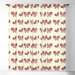 Geometric leaning retro butterfly vector pattern design. Blackout Curtain