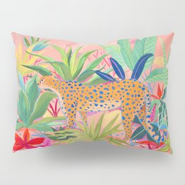 Leopard in Succulent Garden Pillow Sham