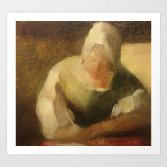 after vermeer Art Print