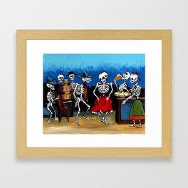 Flirtatious Waitress  Framed Art Print