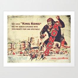 Konga - Retro Movie Art Print