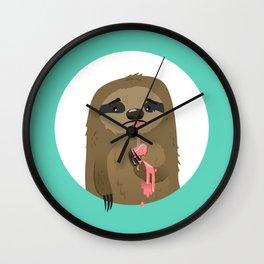 Cruel Sloth Summer Wall Clock