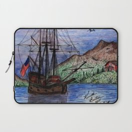 Tall Ship in the Moonlight Laptop Sleeve