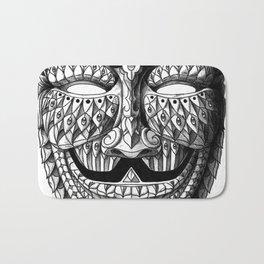 Ornate Anonymous Mask Bath Mat