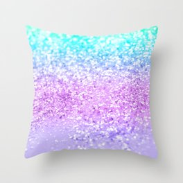 Unicorn Girls Glitter #9 #shiny #decor #art #society6 Throw Pillow