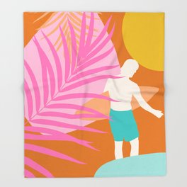 Noon Surfer Abstract Minimalism #2 #minimal #decor #art #society6 Throw Blanket