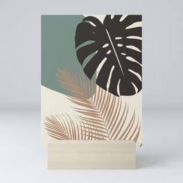 Minimal Monstera Palm Finesse #1 #tropical #decor #art #society6 Mini Art Print
