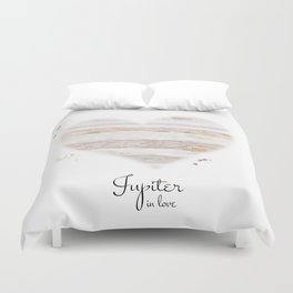 Jupiter in love Duvet Cover