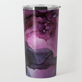Abstract Ink Painting Ethereal Flowing Watercolor Nebula Travel Mug