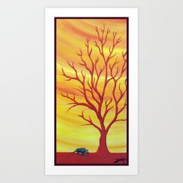 Happy Critter Tree no. 5 Art Print