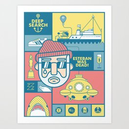 The Life Aquatic With Steve Zissou Art Print