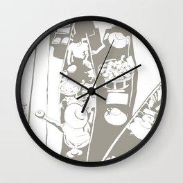 Market in Grey Wall Clock