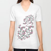 cherry blossoms V-neck T-shirts featuring Cherry Blossoms by famenxt