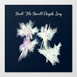 Hark! The Herald Angels Sing Christmas Abstract Canvas Print
