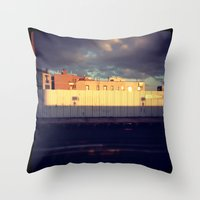queens of the stone age Throw Pillows featuring Queens by Alissa Fleck