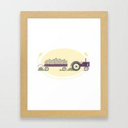 Hitched & Truckin' Framed Art Print