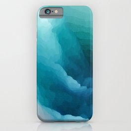 """""""Inner Calm"""" Turquoise Modern Contemporary Abstract iPhone Case"""