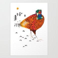 Mr Pheasant Art Print