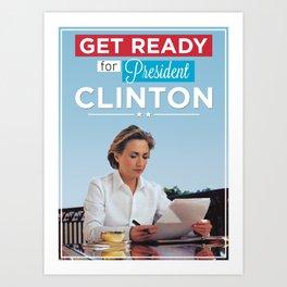 President Hillary Clinton Art Print