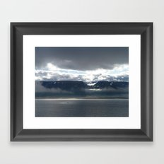 Sun on an Icelandic Fjord Framed Art Print