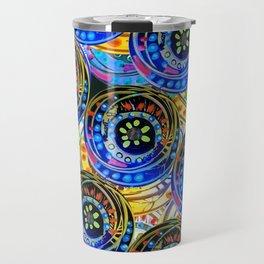 Circle design Number 5 Travel Mug