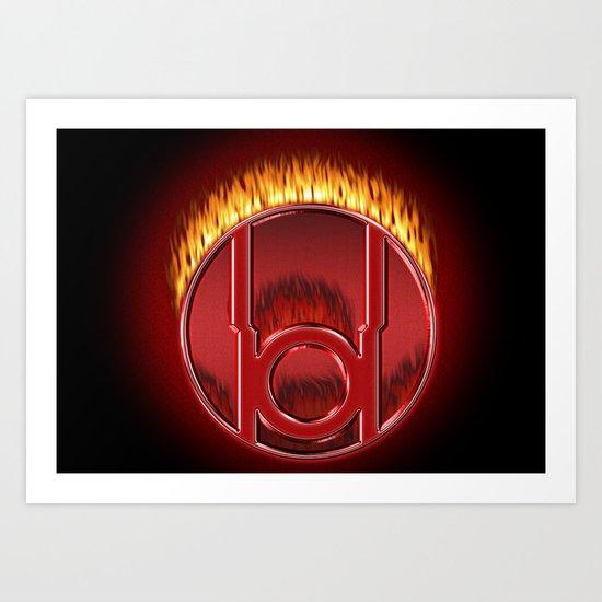 Red Lantern Corp (Rage) Art Print