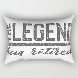retirement of the legend Rectangular Pillow