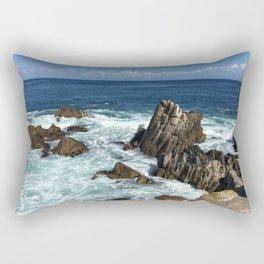 Waves crashing on rocks in Monterey Bay Rectangular Pillow