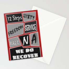 Narcotics Anonymous 12 Step Poster Stationery Cards