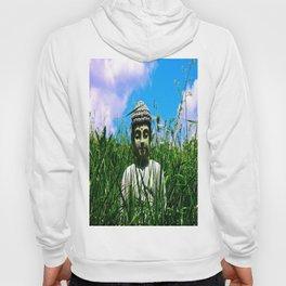 Buddha Looks Through Grass Hoody