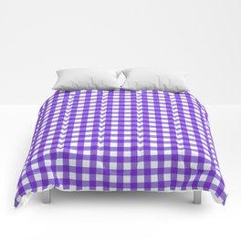 Gingham Print - Purple Comforters