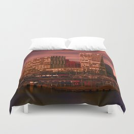 Liverpool One and Salt house Dock Duvet Cover