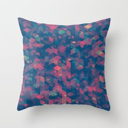 Isometric Grid No. 2 Throw Pillow