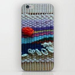 mini tapestry, weaving, Taito beach, Chiba, Japan, surf, surfing, surfing art, surf art, iPhone Skin