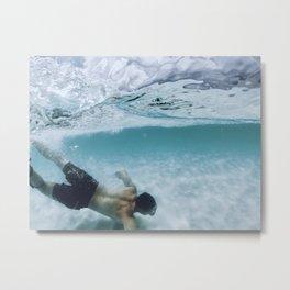 Underwater Dive Metal Print