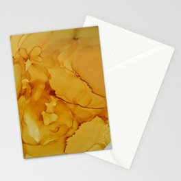 Yellow Smoked Ink Stationery Cards