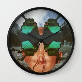 BUTTERFLY BOY Wall Clock
