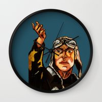 propaganda Wall Clocks featuring propaganda 1 by Ward Van Haute
