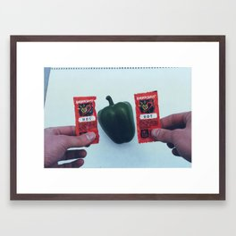 Plastic Hot Peppers 1 Framed Art Print