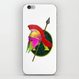 Spartan Helmet Colorful iPhone Skin