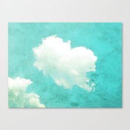 Vintage Style Cloud Photo Canvas Print