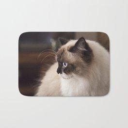Chocolate Ragdoll Cat Bath Mat
