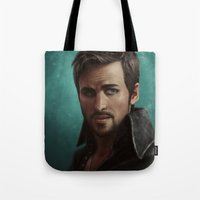 hook Tote Bags featuring Hook by Ravenno